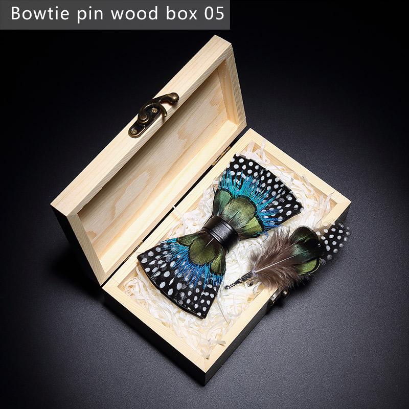 Scatola di legno a forma di cravatta a farfalla5