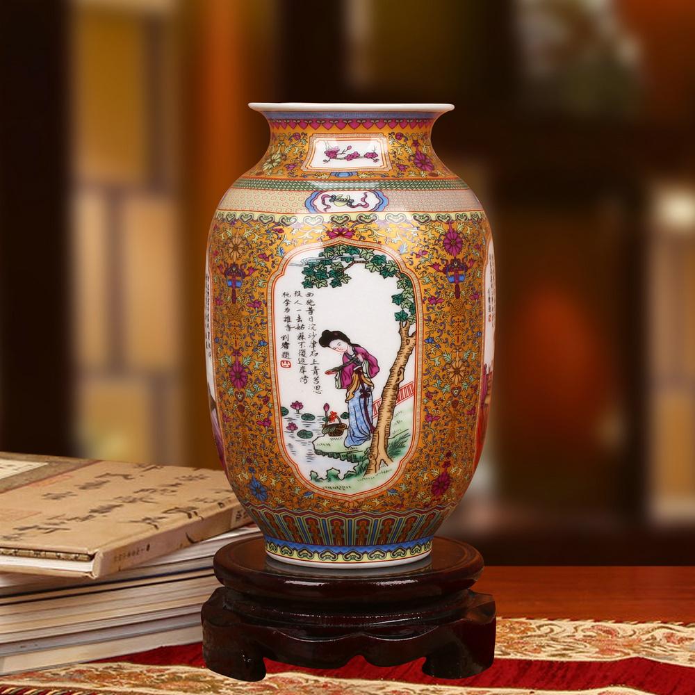 Vase doré x1