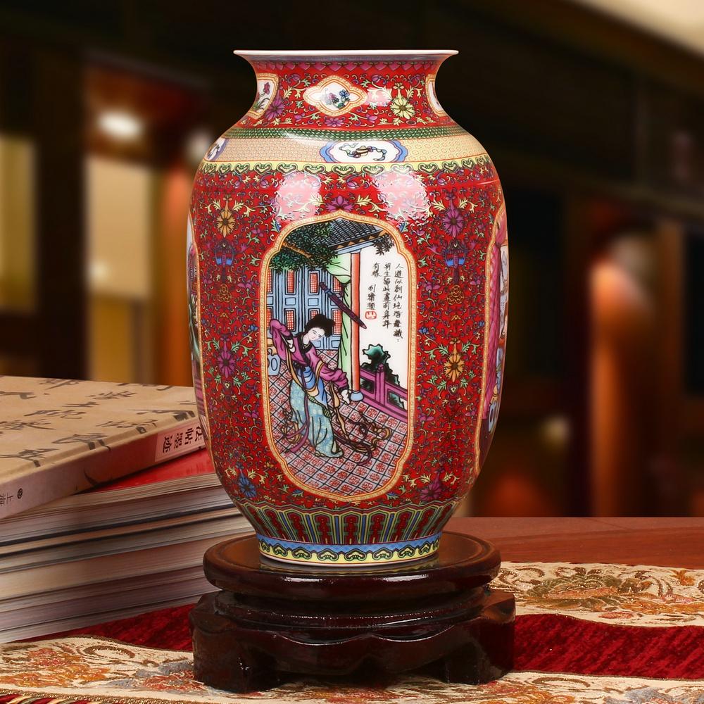 vase rouge x1