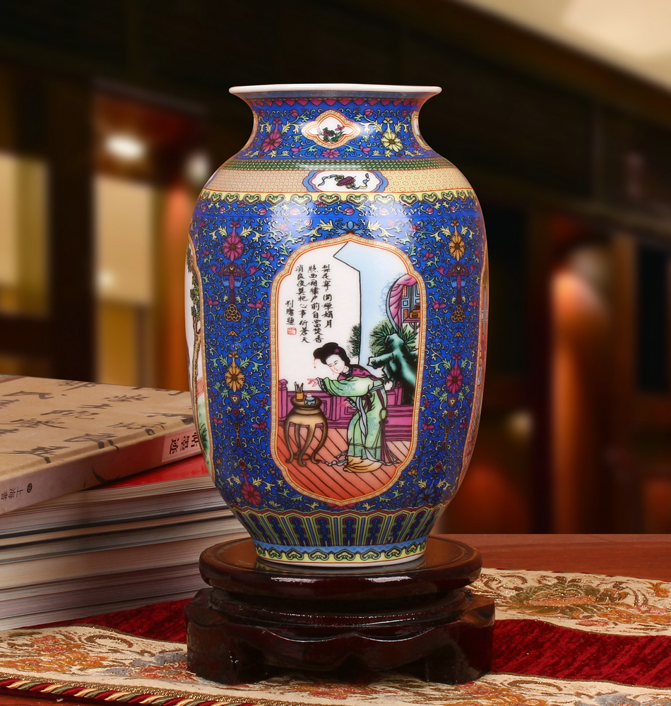 Vase bleu x1