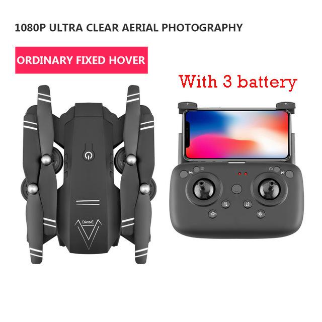 1080P أسود 3battery.