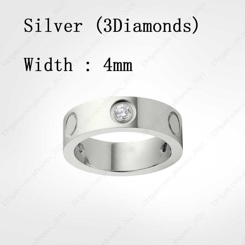Silver & Diamonds (4 mm)
