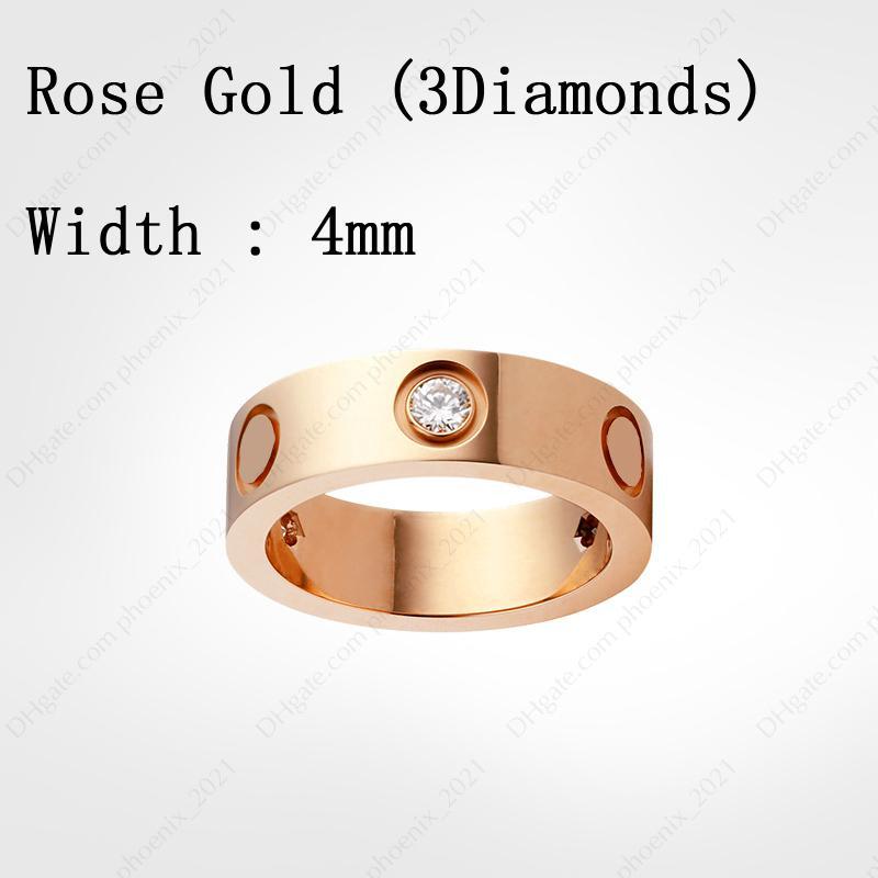 Rose Gold & Diamonds (4 mm)