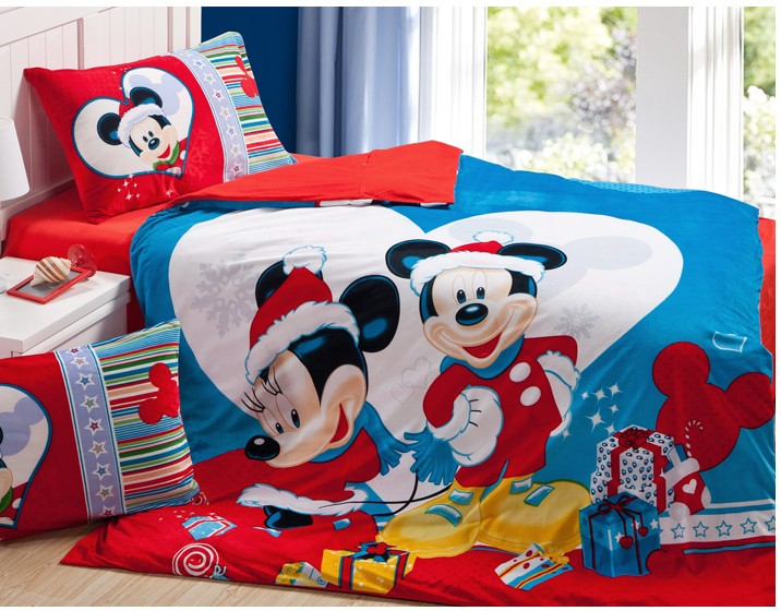 Promotion Children Cartoon Christmas Bedding Sets Velvet