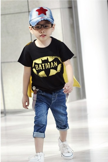 2 7 Year Old Boys Baby Superman Batman Short Sleeve T