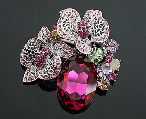 Hot Pink_Antique Silver