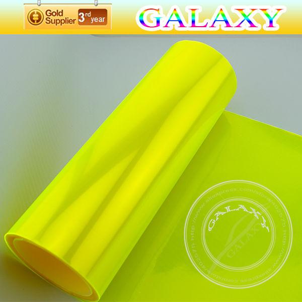 30cmx200cm fluorescência amarela