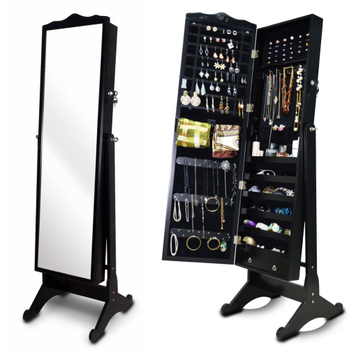 2018 Wood Jewelry Box Jewelry Armoire Cabinet Storage