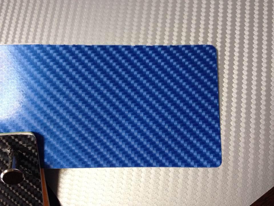 Mörkblått kol + 3pcs strålkastarefilm