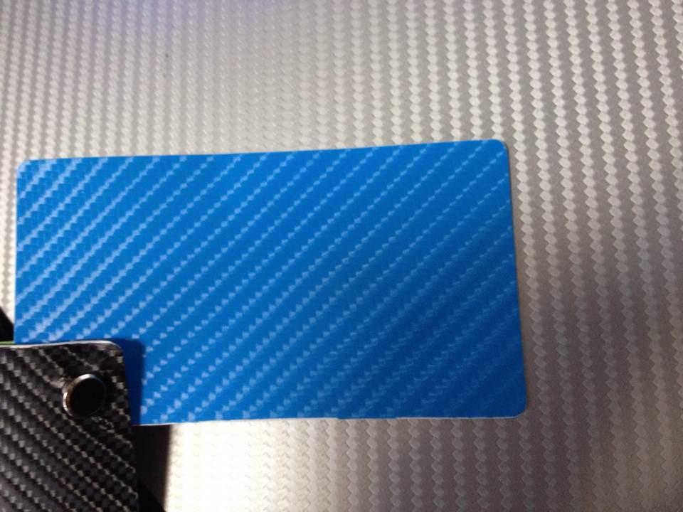 Ljusblått kol + 3pcs strålkastarefilm