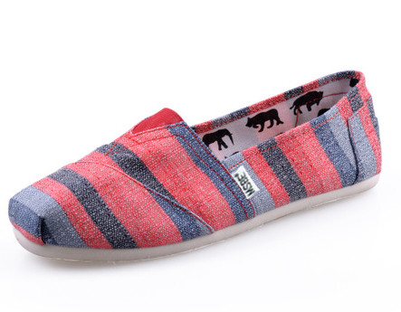 Red colored stripes