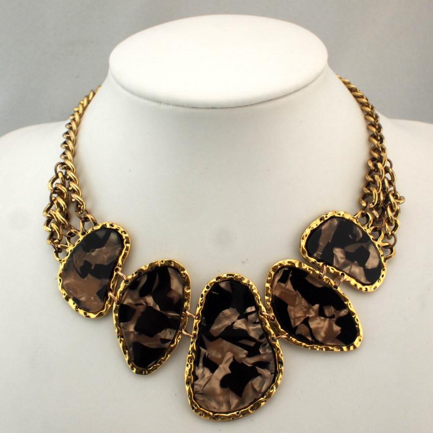Women Jewelry Acrylic Chunky Statement Chain Pendant Necklace Bib Choker