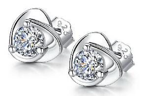 Weiß Diamant Doppel-Herz