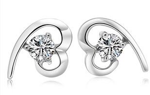 Weiß Diamant Liebe Herz