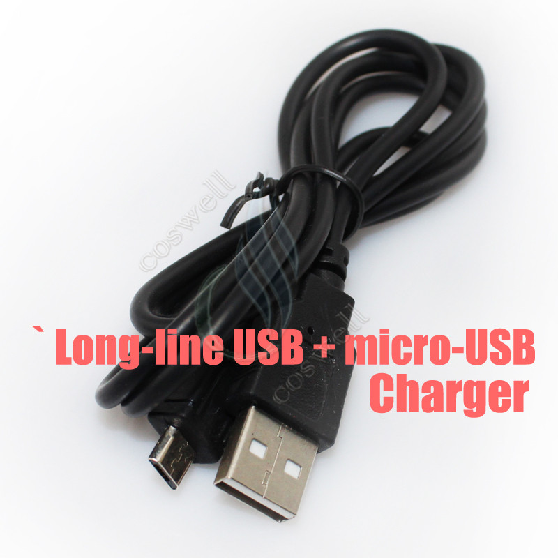 Long-line USB + micro-USB charger
