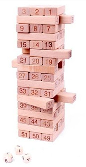 Wooden Stacking Tumbling Tower