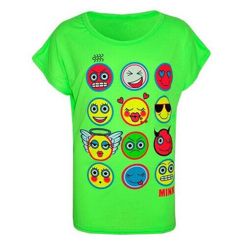 Kids Emoji Print T Shirt