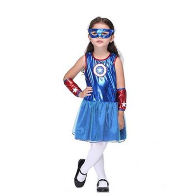 Girls' America Capitain Costumes