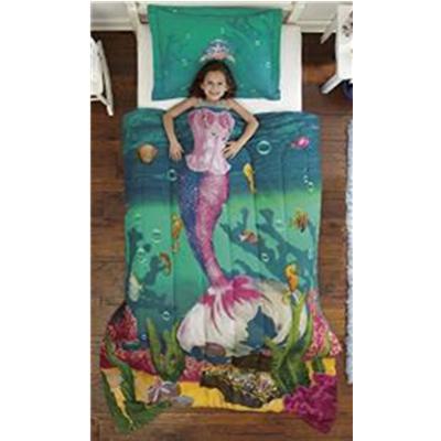 Dream Big Sea Princess Ultra Soft Microfiber 2-Piece Comforter Sham Set