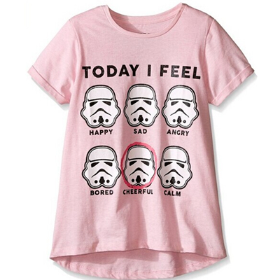 Girls' Today I Feel Hi Low with Rolled Sleeve T-shirt