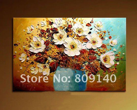 Oil Painting Canvas Flower Art Elegant Home Decoration High Quality  Handmade Abstract Office Hotel Wall Art Decor New Free Ship