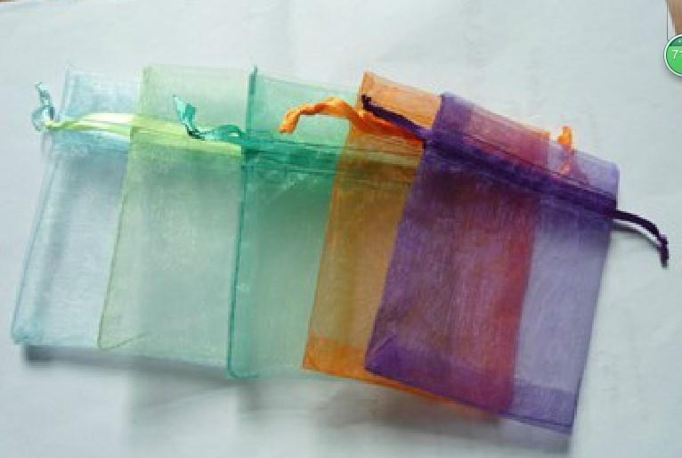 Japace/® 100 Pcs Cadeau Sachets Pochettes Sacs en Organza 9x12 cm pour Mariage Bijoux Cadeaux Noir