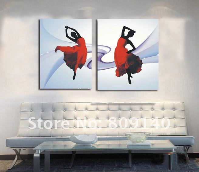 good painting free shipping dancer dancing impression oil painting on  canvas hand painted home decor wall decor art gallery with paintings for  home decor.