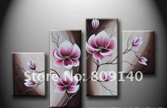 flower oil painting purple abstract canvas decorative artwork hand painted  modern home office hotel wall art decor free shipping. 2017 Oil Painting Canvas Mediterranean Floral Road Seascape Modern