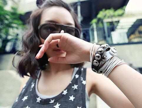 Hot Sale Stylish Leather Wristband Bracelet Fashion Strap Multi Layer Filaments PU Bracelets. 50pcs/lot.free shipping