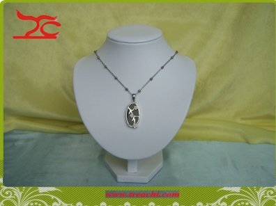 wholesale promotion Jewelry display necklace neckform bust torso White PU