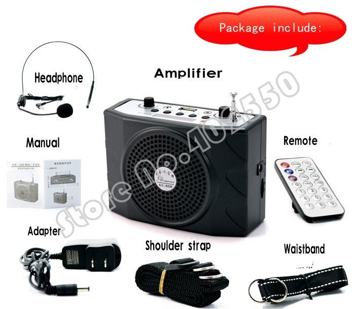 30pcs/lot, Free shipping by UPS/DHL, portable waistband mini PA amplifier voice speaker MP3 player with remote, USB/TF, FM audio