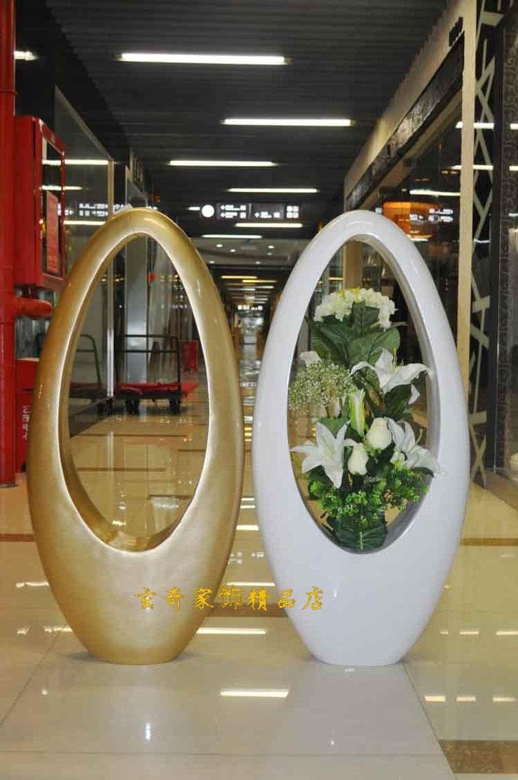 80 White Large Floor Vase Modern Fashion Flower Brief Derlook ...