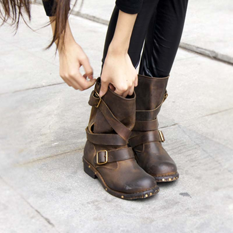 outlet on sale new high aliexpress Jeffrey Campbell Genuine Leather Brit Boots Size 35 41 Girls Boots ...