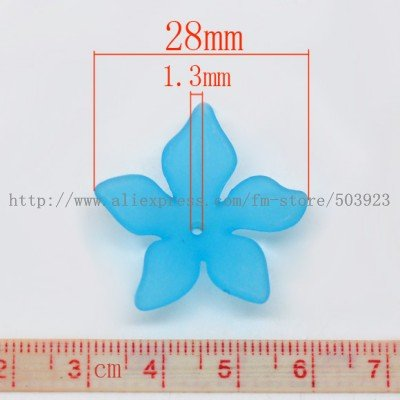 Wholesale 28mm 200pcs/lot Assorted Color Flower Acrylic Beads Fashion Jewelry Accessories Free Shipping