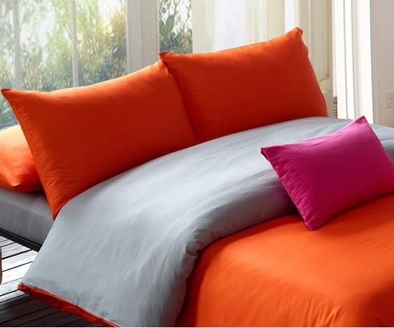 Bedding Modern,Orange Grey Duvet Set,Twin,Queen, King ...