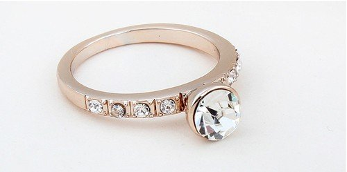 HOT! Free shipping wholesale mix! crystal ring, fashion ring. make with Swarovski Elements (6- colors)