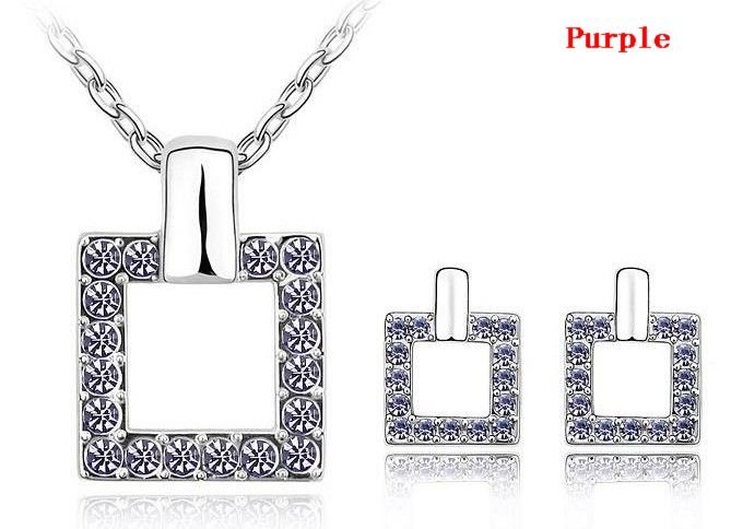 HOT!Free shipping wholesale mix! fashion jewelry sets, crystal jewelry sets ,make with Swarovski Crystal(6-Colors)