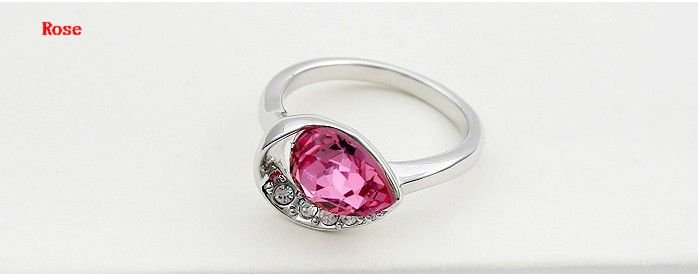 Free shipping wholesale mix! new jewelry, crystal ring, women's jewelry, make with Swarovski Elements (3 -colors)