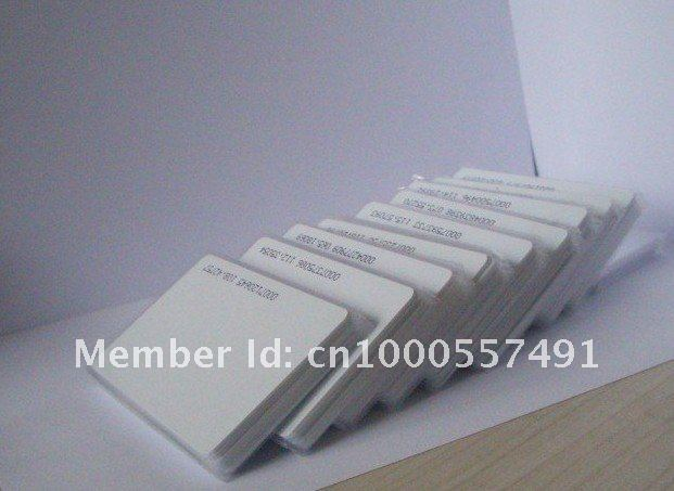 Free shipping,RF proximity EM card with 125kHz,0.8mm thin card, +min:1 lot