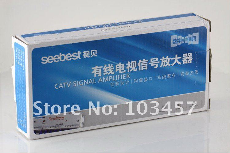 SB-1030M8 8 Way CATV Signal Amplifer Sat Cable TV Splitter Booster CATV 30DB