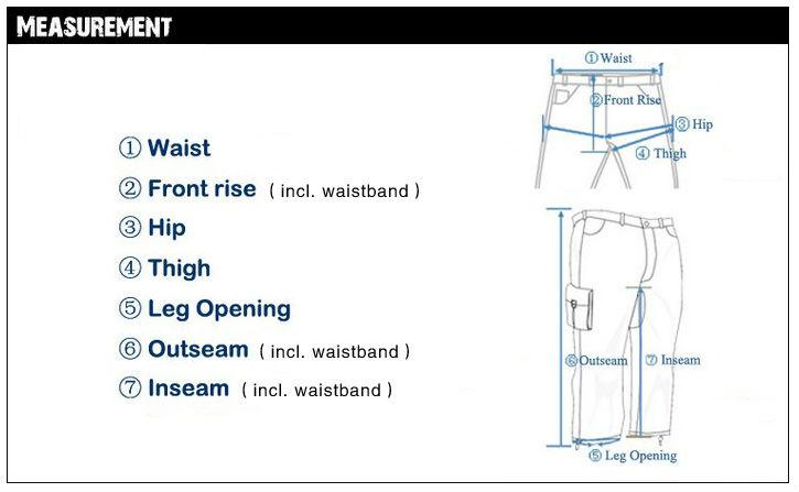 size pants