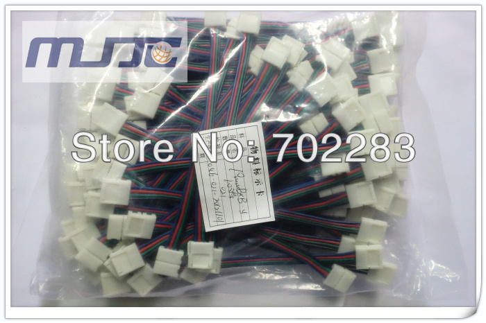 10mm 5050 led strip light connectors cable wire (4)