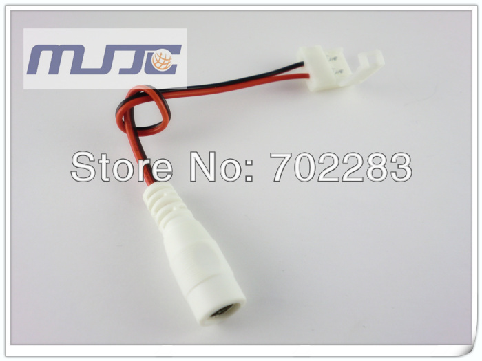 led strip light easy connector with DC female connector to 12V adapter