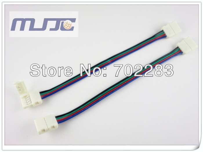 10mm 5050 led strip light connectors dual 4pin cable wire