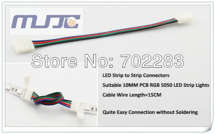 10mm 5050 led strip light connectors cable wire (3)