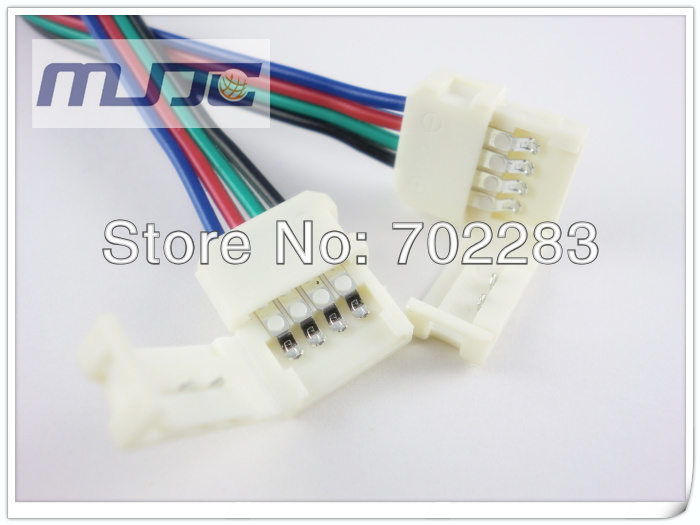 10mm 5050 led rgb strip light connectors cable wire for angle turn