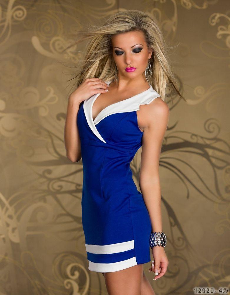 Como combinar un vestido azul rey con blanco
