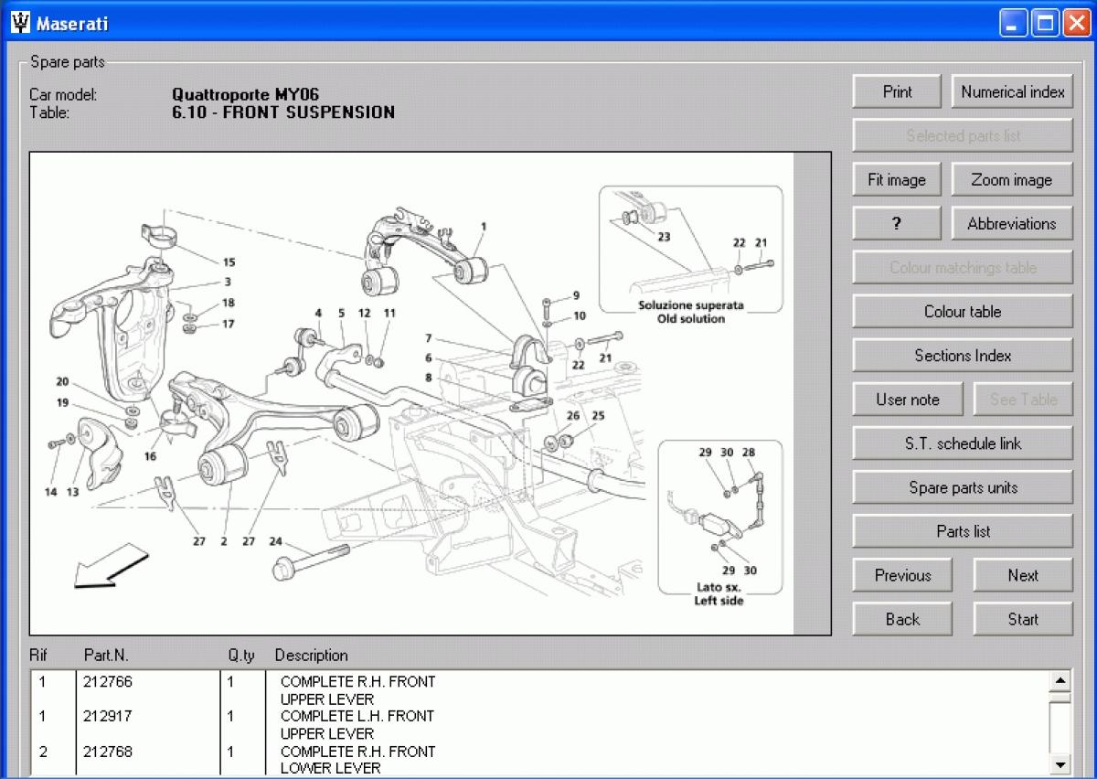 Maserati Quattroporte Spare Parts Catalog, Bulk Scanner Tool Auto ...