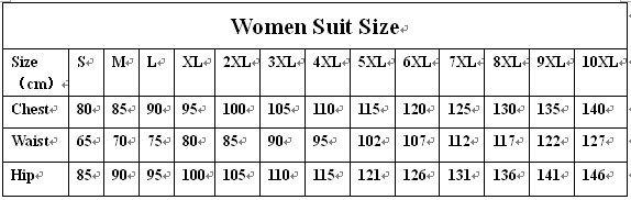 women suit size