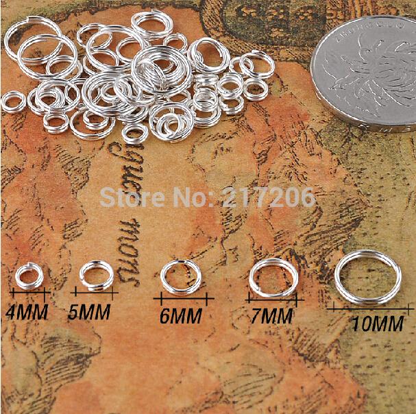 Loop Jump Split Rings Connectors For DIY Jewelry Finding Making Accessories